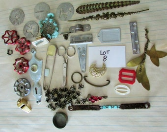 Lot #8 Steampunk Jewelry Assemblage Lot
