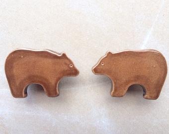 Bear- woodland animal furniture knobs