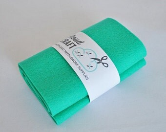 100 Percent Pure Wool Felt Roll - 12x90cm - Mermaid