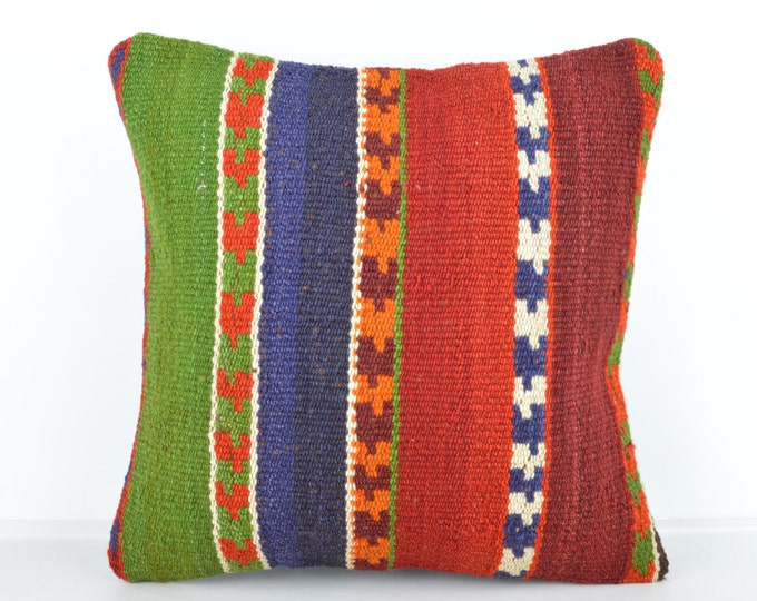 Kilim pillow, Kilim Pillow Cover k482, Turkish Pillow, Kilim Cushions, Bohemian Decor, Moroccan Pillow,  Bohemian Pillow, Turkish Kilim
