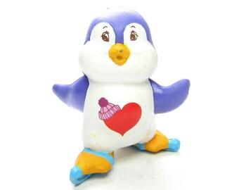 Cozy Heart Penguin Vintage Care Bears Cousin PVC Miniature Figurine Skating Figure Eights