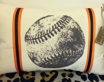 Vintage Baseball Pillow