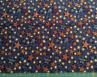 Hoffman Stars and Stripes Cotton Fabric Fat Quarter