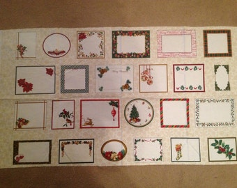 Christmas Cotton Fabric Labels Fabric