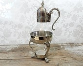 Polished Silver plate Decanter on stand, marked A1 Silverplate, carafe, coffee pot, warming pot, teapot