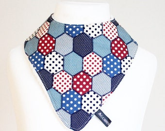 Geometric hexagons dribble bib