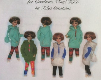 "Knit Hoodie Sweater Pattern for Goodreau 16"" doll Sent PDF Format"