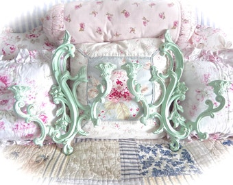YOU PICK COLOR Shabby Dual Arm Floral Ornate Scrolled Wall Candle Sconces Cottage Chic Set of 2