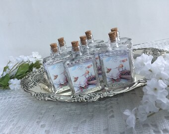 12 Holy Water Bottles, decor bottler, Baptism favors, holy water bottler favors, bottle favors. religious favors,