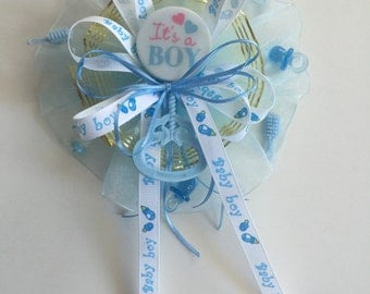 It's a boy   Baby Shower Corsage, Mommy to be Corsage, Baby Shower Brooch, baby boy shower blue , blue corsage, baby shower pin brooch
