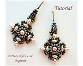 GOTHIC superduo bead beaded earrings beading tutorial beadweaving pattern beadwork jewelry beadweaving tutorial beading pattern instructions