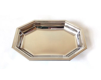Jean Couzon France Stainless Steel Tray, Octagonal shape