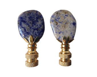 Blue Stone Lamp Finials