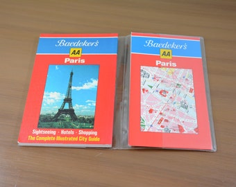 Baedeker's Paris City Guide and Map 1984