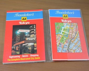 Baedeker's Tokyo City Guide and Map 1984