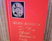 "Vintage 60's  ""OLD MR. BOSTON"" De Luxe Official Bartender's Guide"