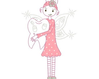 Embroidery design machine applique Tooth Fairy instant download