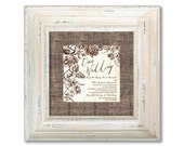For Molly:  one custom wedding invitation plate framed in cottage white 3 inch frame