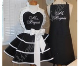 Custom Listing For Donna...Mr. and Mrs. Custom Bridal Aprons...Perfect Bridal Shower Gift, Custom Personalization Of Your Choice