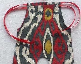 Aztec Indian Upcycled Romper , Headpiece, Photo Prop, Newborn Prop