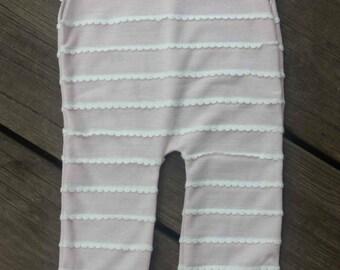 Pink Sitter Romper, Photo Prop,  Homemade, , Striped Romper