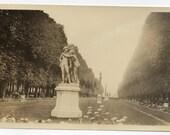 Charles Alphonse Achille Gumery La Nuit Vintage Photo Jardins Cavalier de la Salle Paris France Antique Photograph Paper Ephemera