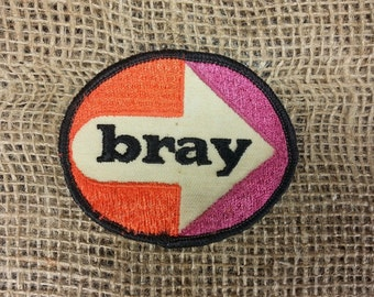 "Vintage ""Bray"" Sew On Patch - Trucker Biker Hat Jacket"