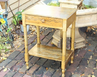 Antique Grain Painted Washstand Country Farmhouse Decor