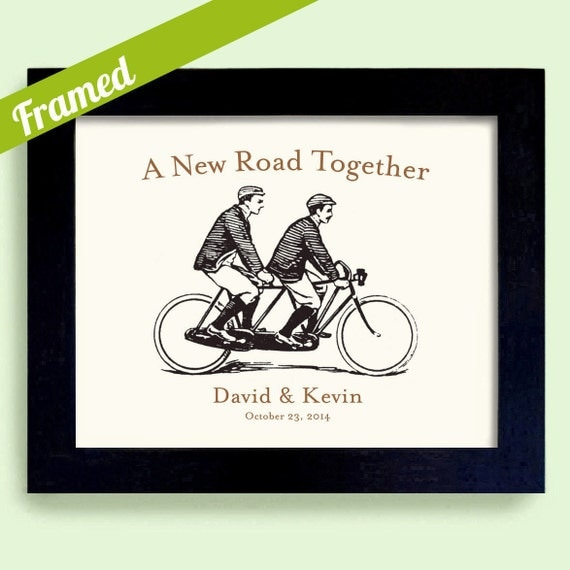 Wedding Gift Ideas For A Gay Couple : ... Wedding Gift Tandem Bicycle for Two Engagement Gift For Gay Couples