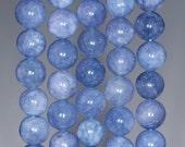 10mm Angel Stone Gemstone Aqua Blue Grade AA Round Loose Beads 15 inch Full Strand (80000722-102)