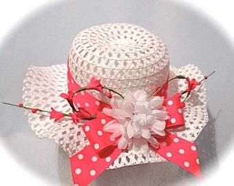 Girl's Tea Party Hat Flower Girl Accessories GH-110