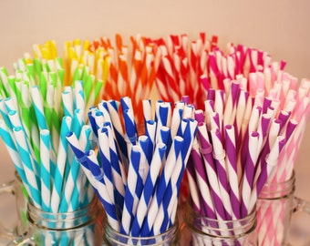 Reusable Straws BPA Free Eco Friendly Striped 51 For DIY  Making Your Own  Mason Jar Cup Tumblers, Easter Gift