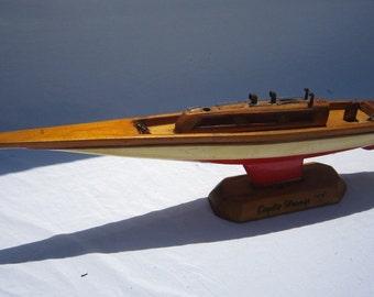Vintage Wood Boat Model