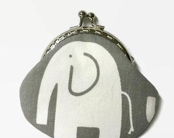 Elephant Coin Purse Small, Coin Purse, Small Change Purse, Snap Closure Purse