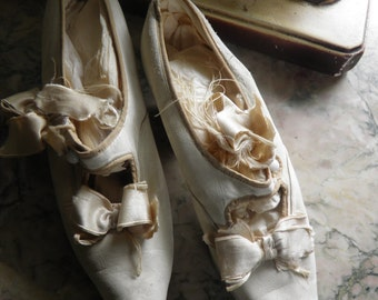Victorian French Soft Kid Leather Bridal Shoes
