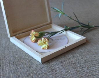 CD / DVD Wooden Box / Wooden Case / Unfinished Wood Box / Wedding CD Box