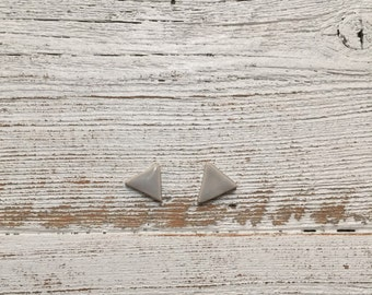 Ceramics Triangle Earrings, Soft Grey, Spring Fashion, Modern, Minimal, Unique Gift, Ceramics, Ceramic Jewelry