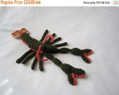 """ON SALE - 10% OFF Crochet toy animal stuffed Lobster...decor ...even red 10"""""""