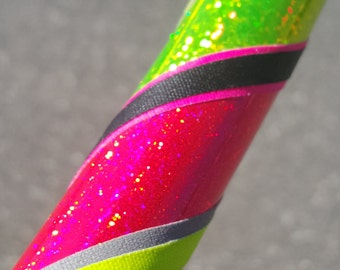 Pink & Yellow Collapsible Hula Hoop // Custom // Any Size // Fitness // Workout // Dance // Exercise // Travel Hoop // Infinity // Rave