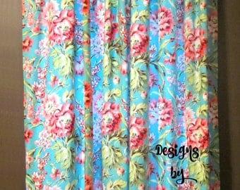 """84"""" Curtain Panels, Drape Panels, Drapes, Floral Curtains, Floral Drapes,"""