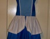 Womens Legends Cinderella Plus Size Blue Apron