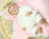 Nicery Reborn Baby Doll Hard Silicone 16inch 40cm Magnetic Lovely Lifelike Toy Cute Boy Girl Smile White