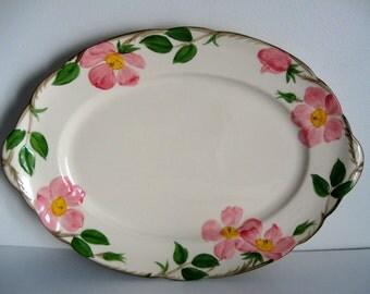 "Franciscan Desert Rose Large Platter 14-1/4"" USA Dinnerware China Holiday Dining VintageShabbyToChic"