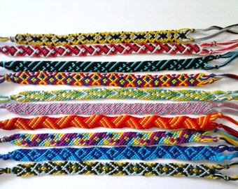 Random Friendship Bracelet Ten Strings wide