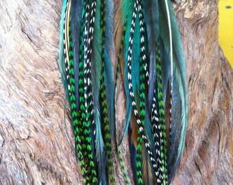 Earthy Tribal Feather Earrings//Aztec American Indian Inspired Long Feather Earrings//Bohemian Gypsy style