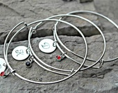 Bridal Party Bracelets - Initial Bracelets - Custom Charm Bracelets - Wedding Party Bracelets - Monogram Bracelets - Bridal Party Gift