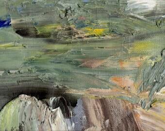 Oil Paints-Modern Art-Green Art-Abstract Art-Original Art