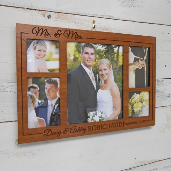 Collage Picture Frame: Personalized Wedding Gift, Custom Wedding Frame ...
