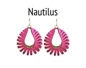 Laser Cut Earrings - Nautilus