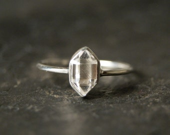 Little Herkimer Diamond Ring in Sterling Silver